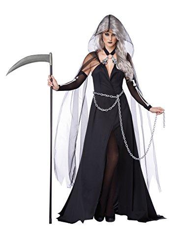 Halloween Kostüm Fantome - JADEO Kostüm Dame der Finsternis für Damen Halloween