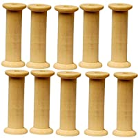 Amazing Arts and Crafts Wooden Bobbins Spools 75mm 10 Pack Sewing Ribbon Textile Yarn Craft Cotton Reels