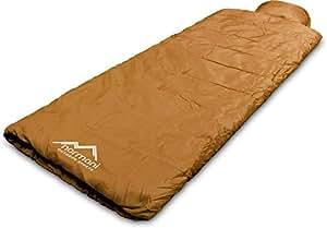 Einzel Schlafsack Pilotenschlafsack mit integriertem Kopfkissen - verschiedene Farben Farbe Pilot/Coyote