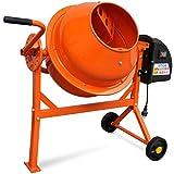 Tidyard Hormigonera Eléctrica de Acero de Energéticamente Eficiente 63 litros 220 W, S6 30% 110 x...
