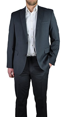Herren Anzug in anthrazit oder grau, Regular Fit, Markenware (40999), Größe:50, Farbe:anthrazit (2-knopf Oder 3-knopf-anzug)