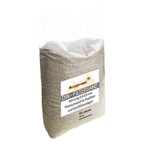 25 kg Filtersand für Sandfilteranlagen 0,4-0,8 mm Marke
