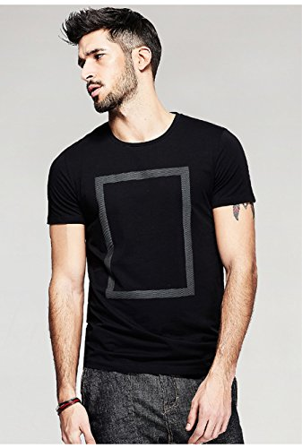 EG-Store-Round-Neck-Cotton-Regular-Fit-T-Shirt-BlackWhite