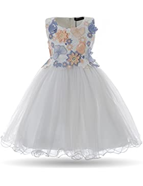 Cielarko Vestidos para Niñas Sin Mangas de Fiesta de Cumpleaños de La Mariposa