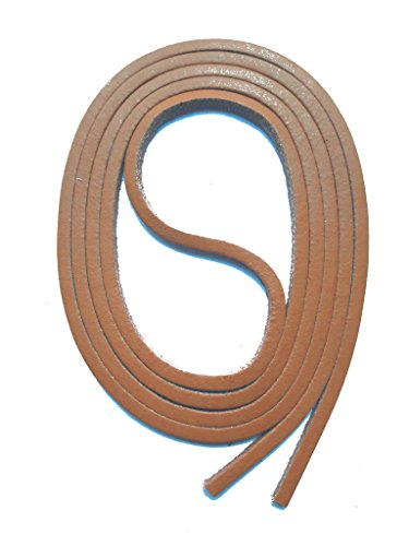 SNORS Schnürsenkel aus LEDER BRAUN, 120cm, ca. 3x3mm, Docksider, Lederriemen, echtes Rindsleder, Ledersenkel Made in Germany