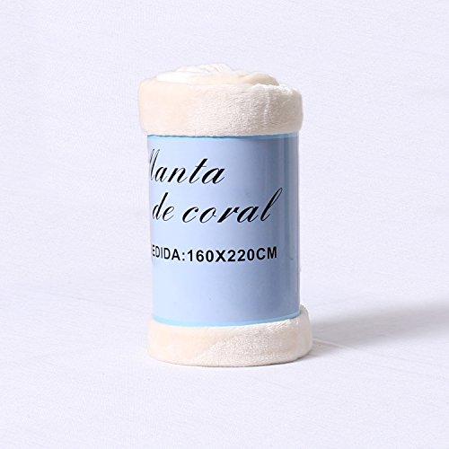 Manta Sofá Cama Microfibra Sedalina Suave Multifuncional, 100% Poliéster 240g/m², 160X220cm Beige