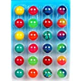 renereit collection crazy bouncy jumping balls pack for kids 32 mm (set of 24)- Multi color