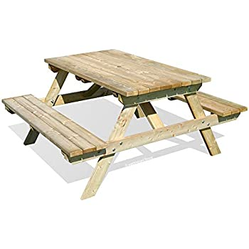 New Wooden Garden Bench Table 6 Seater Outdoor Furniture Pub Cafe Table Bench Sfhs.org