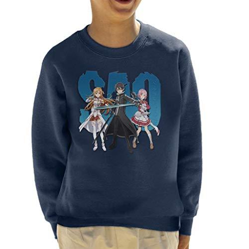 Cloud City 7 Kirito Asuna Lizbeth Sword Art Online Kid\'s Sweatshirt