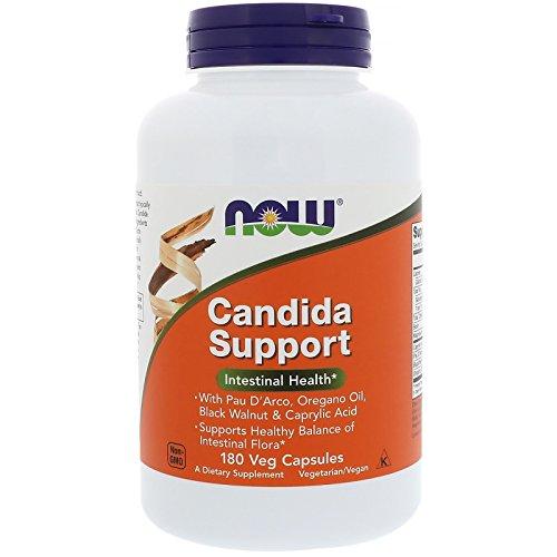 Now Foods | Candida Support | 180 Kapseln | Vegan | Vegetarisch | ohne Gentechnik | Glutenfrei | Sojafrei