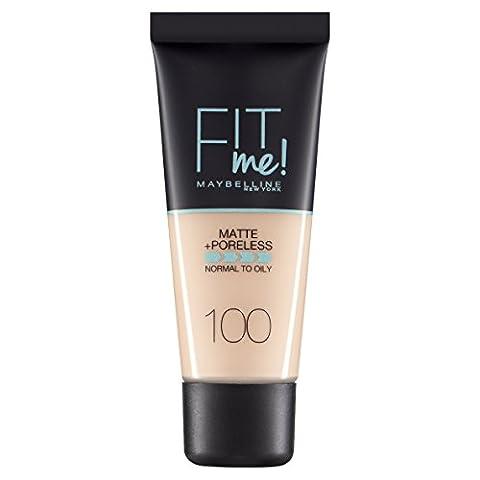 Maybelline Fit Me Matte & Poreless Foundation 100 Warm Ivory 30ml
