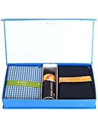 Raymond Men's Combo of Unstitched Poly Cotton Shirt and Trouser Fabric Set Multicolour_Free Size
