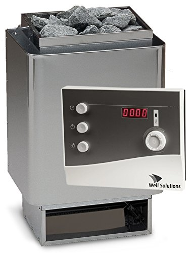 Well Solutions® Saunaset EOS 34A Sauna Ofen 7,5 kW Edelstahl + Steuerung K2 mit Zeitvorwahl