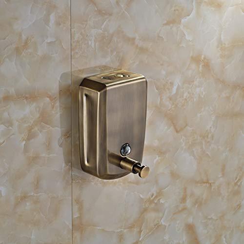 YHSGY Seifenspender An Der Wand Befestigte Antike Bronze-Bad-Seifenspender-Flüssige Seife U. Shampoo-Kasten 800Ml - Flüssige Halter Bronze Seife