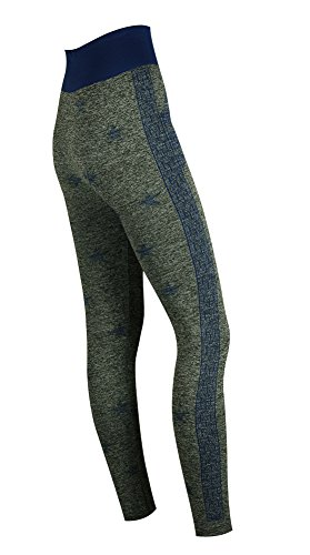 My Socks - Leggings sportivi -  donna Thick Grey Marl Blue Star