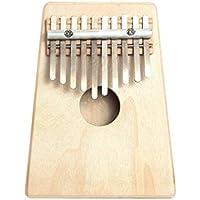 10 Finger clave Mbira Kalimba Pulgar Piano de madera de pino mini portátil de la percusión del Marimba de instrumentos musicales Regalos para principiantes