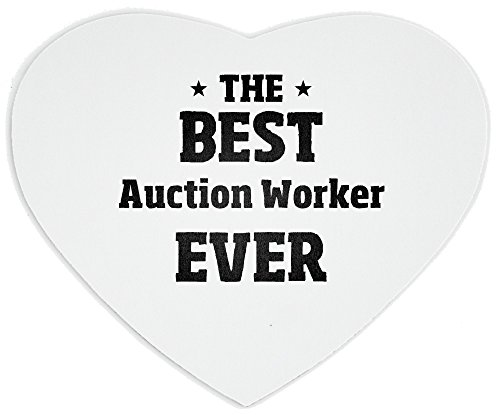 THE BEST Auction Worker EVER heart mousepad