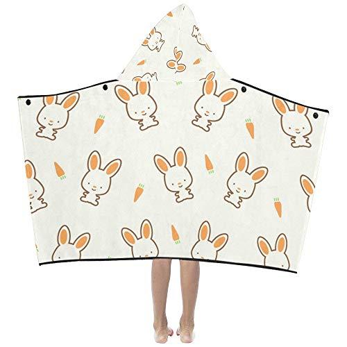 Niedliche Kawaii Kaninchen Bunny weiche warme Kinder verkleiden sich mit Kapuze tragbare Decke Badetücher werfen Wrap für Kleinkinder Kind Mädchen junge Größe Home Reise Picknick Schlaf Geschenk Bunny Hood
