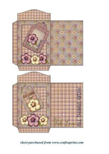 Feuille A4 pour confection de carte de vœux - 2 In full bloom seed packets 2 par Sharon Poore