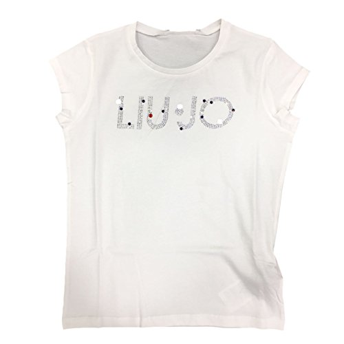 LIU JO Bambina G17001 Bianco T-Shirt Primavera/Estate 16 ANNI