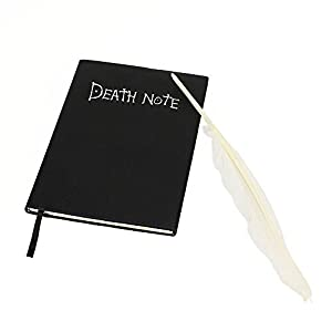 MMRM 0091987215389 Anime Death Note Notizbuch Cartoon Cosplay Rep mit Feather Quill Pen