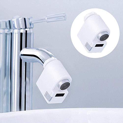 Umiwe Adaptador Automático de Grifo Sin Contacto, Inducción Infrarroja Cocina Lavabo Baño Ahorrador de Agua Sensor de Movimiento Adaptador Protección contra Desbordamiento de Agua, Fácil Instalación