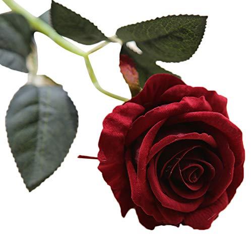 VWTTV künstliche gefälschte Rose Simulation Blume Samt Rose Blume Flanell Blume Brautstrauß Hochzeitsfest Dekoration