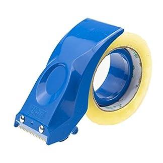 PROSUN – Dispensador de cinta adhesiva de 2 pulgadas de fácil montaje, cortador de sellado de embalaje, herramientas de almacén de mano negras