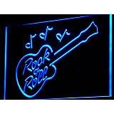 Cartel Luminoso ADV PRO i763-b Rock and Roll Guitar Music Bar Neon Light Sign
