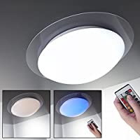 LED Bathroom Ceiling Light I Kitchen & Living room I Dimmable I 16 colours and 4 colour schemes I splash water proof I metal I acrylic design I 12 W I 230 V I IP44 by B.K.Licht