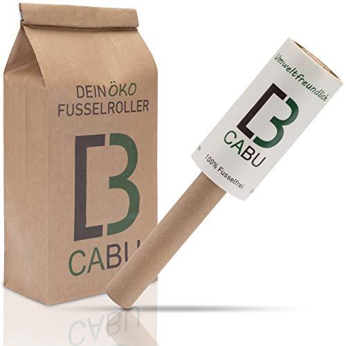 CABU Öko Fusselrolle - 6er Set - Umweltfreundlich und Plastikfrei - Tierhaarentferner - Fusselroller