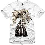 E1SYNDICATE T-SHIRT RASTAFARI LION HIPSTER DOPE WASTED YOUTH DOPE DC S-XL