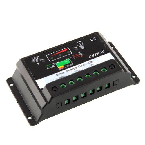 SODIAL (R) 15A MPPT Solar Panel Batterie Regler Laderegler 12V 24V Auto-Schalter TSL -
