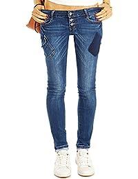 Bestyledberlin Damen Röhrenjeans, Skinny Fit Blue Jeans, Enge Hüftjeans j42k
