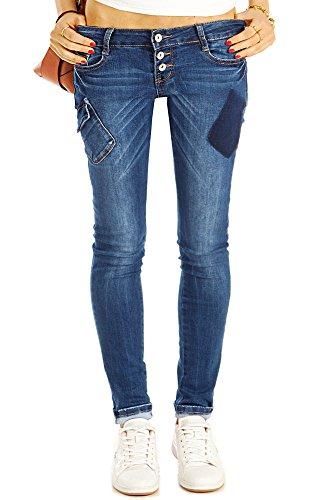 Bestyledberlin Damen Röhrenjeans, Skinny Fit Blue Jeans, Enge Hüftjeans j42k 42/XL