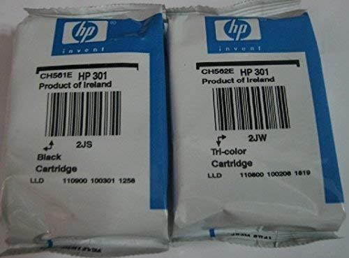 Generación Original v1 HP 301 Negro y tri-cartucho de tinta a color - en aluminio - esta generación no para Deskjet 1000/10/50/50 A, 1510/12/14, 1512/14, 2050, 2510/40/42, 3000/50/50 A/55 A, 4500/02/04/05 Officejet 2620/4630