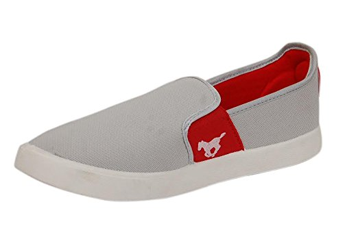 De L'amour Men's Grey Casual Loafer Shoes (Introductory Offer)  available at amazon for Rs.198