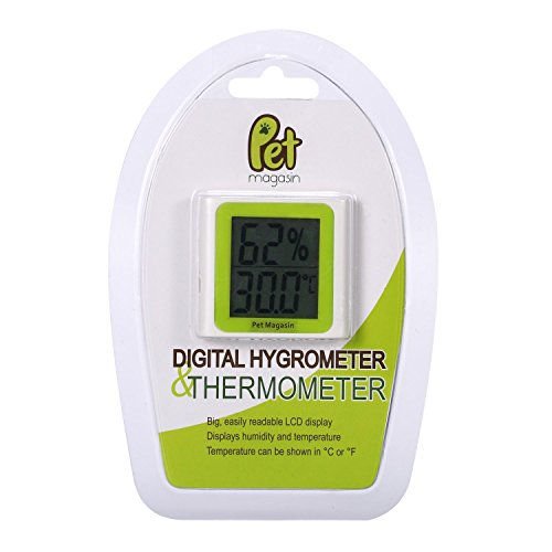 2-in-1Digital-Thermometer und Hygrometer [Batterie enthalten] für Terrarien und Aquarien von alle Größen von Pet Magasin