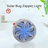 Hansel Solar Bug Zapper UV Lamp Solar Bug Zapper Light Mosquito Insect Flying