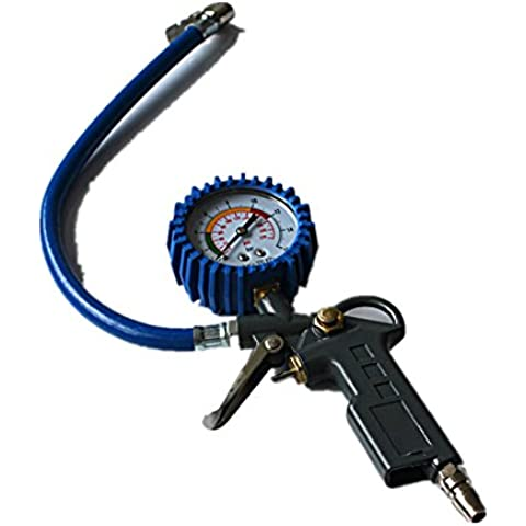 Goliton® Gauge Pistola Aire Neumático Alquiler de coches Indicador de presión Presión Medidor de Presión de Neumáticos monitor multifuncional