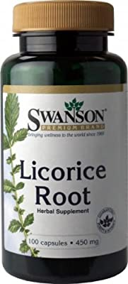 Swanson Licorice Root 450mg, 100 Capsules from Swanson Health Products