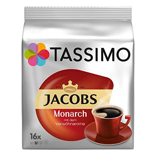 Tassimo Monarch, Verwöhnaroma, Kaffee, Kaffeekapsel, gemahlener Röstkaffee, 80 T-Discs / Portionen