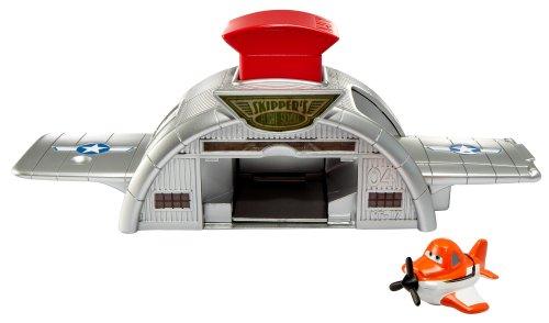Mattel Y4587 Disney Planes Micro Drifters - Hangar de juguete (incluye un avión)