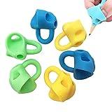 Lot de 6 pinces à crayons ergonomiques en silicone pour gauches ou droitiers pour enfants et enfants