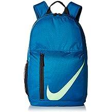 Nike Mochila Elemental niños - BA5405, Talla única, Green Abyss/Black/Barely