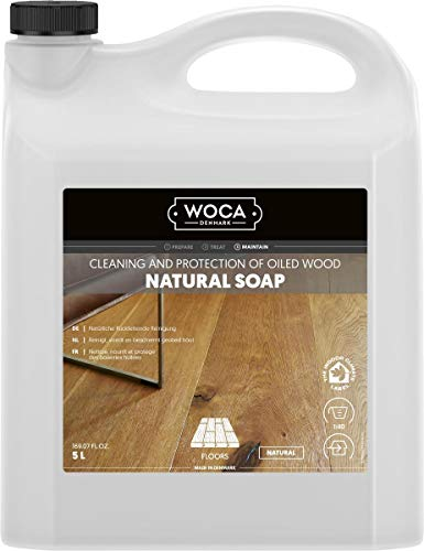 Woca 511050A Holzbodenseife, 5 L, Natur