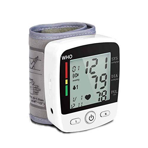 CHENG Handgelenk-Blutdruckmessgerät Präziser, unregelmäßiger Herzschlagdetektor Automatische Messung und Speicherung von Speichern USB-Ladegerät