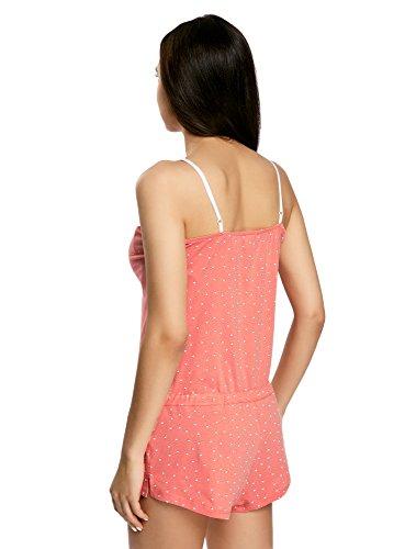 oodji Ultra Femme Combinaison d'Intérieur en Coton Rose (4310G)