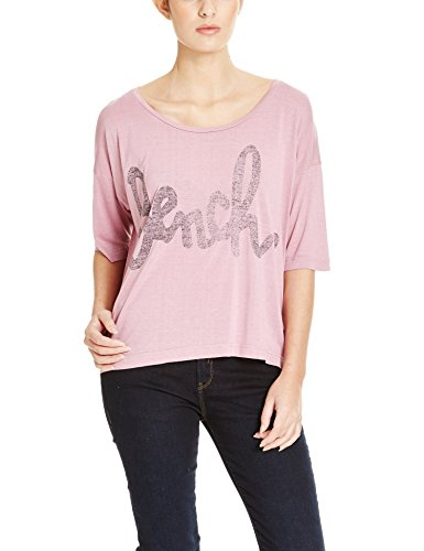 Bench Damen T-Shirt SPEECHIFYING, Gr. X-Large, Violett (Orchid Haze PK024)