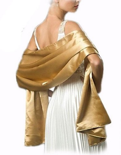 ALL COLOUR Butterfly Wedding Bride Bridesmaids Prom Dress Satin Sash Shawl Stole Wrap